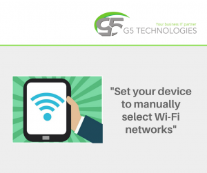 fix unsecured wifi network