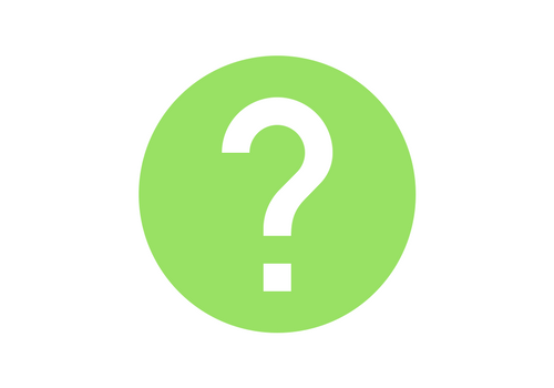 green circle white question mark icon