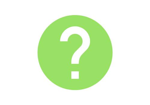 green circle white question mark icon