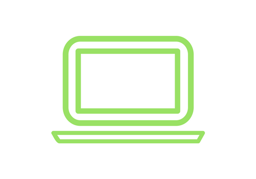 green laptop computer icon
