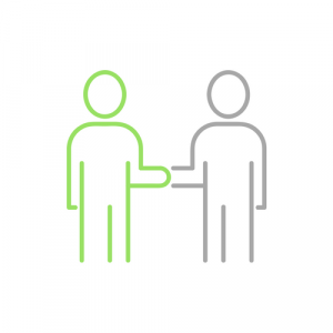 G5 provide Excellent IT Support in Aberdeen and beyond - image showing handshake between two figures