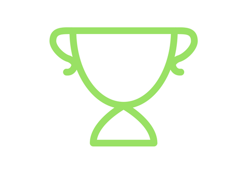 green trophy outline icon