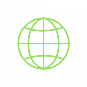 green networking globe