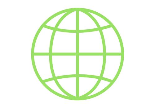 green globe network icon