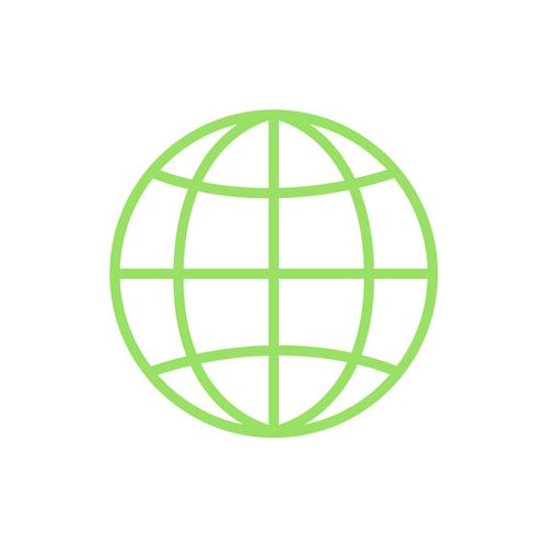 green globe network icon
