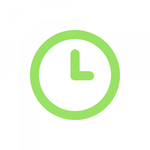 it support 247 green clock