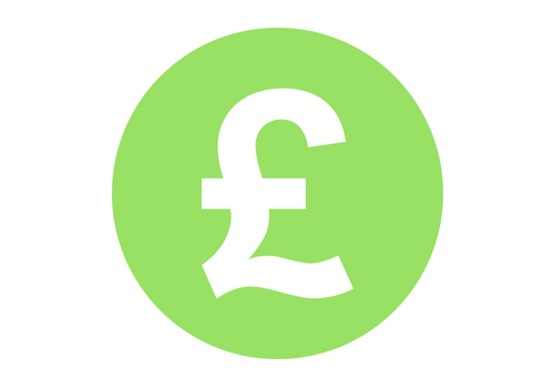 pound £ green circle icon