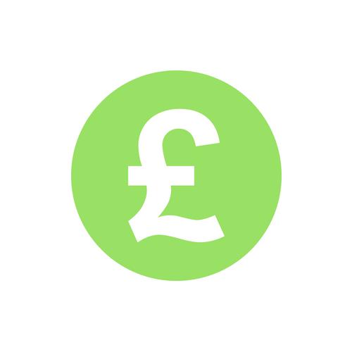 pound £ green circle icon