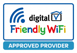 Friendly WiFi Approved Provider logo multicoloured