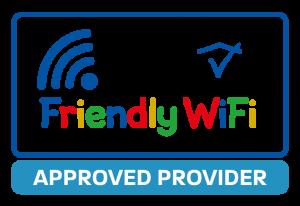Friendly WiFi Approved Provider logo multicoloured